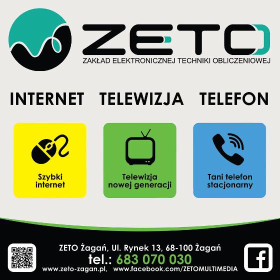 ZETO Żagań - telewizja internet światłowodowy